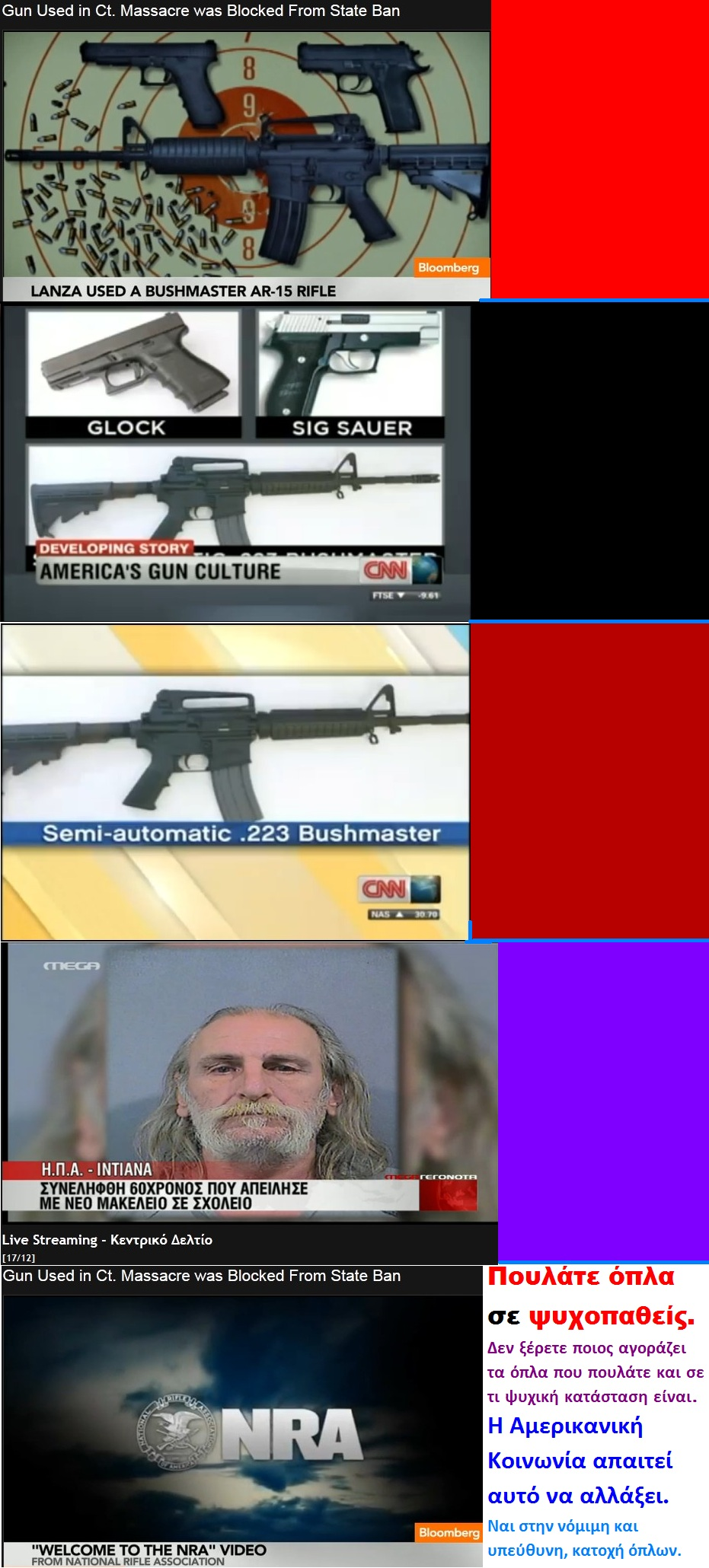 BLOOMBERG USA ADAM LANZA SHOOTING GUNS USED 01 01 191212