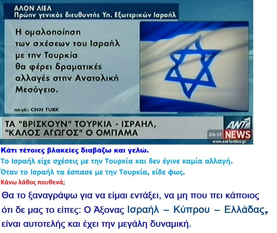 ISRAEL TURKEY ALON LIEL 01 230313