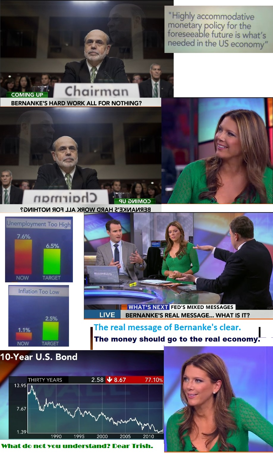 BLOOMBERG BERNANKE TARGETS UNEMPLOYMENT - INFLATION 01 05 110713