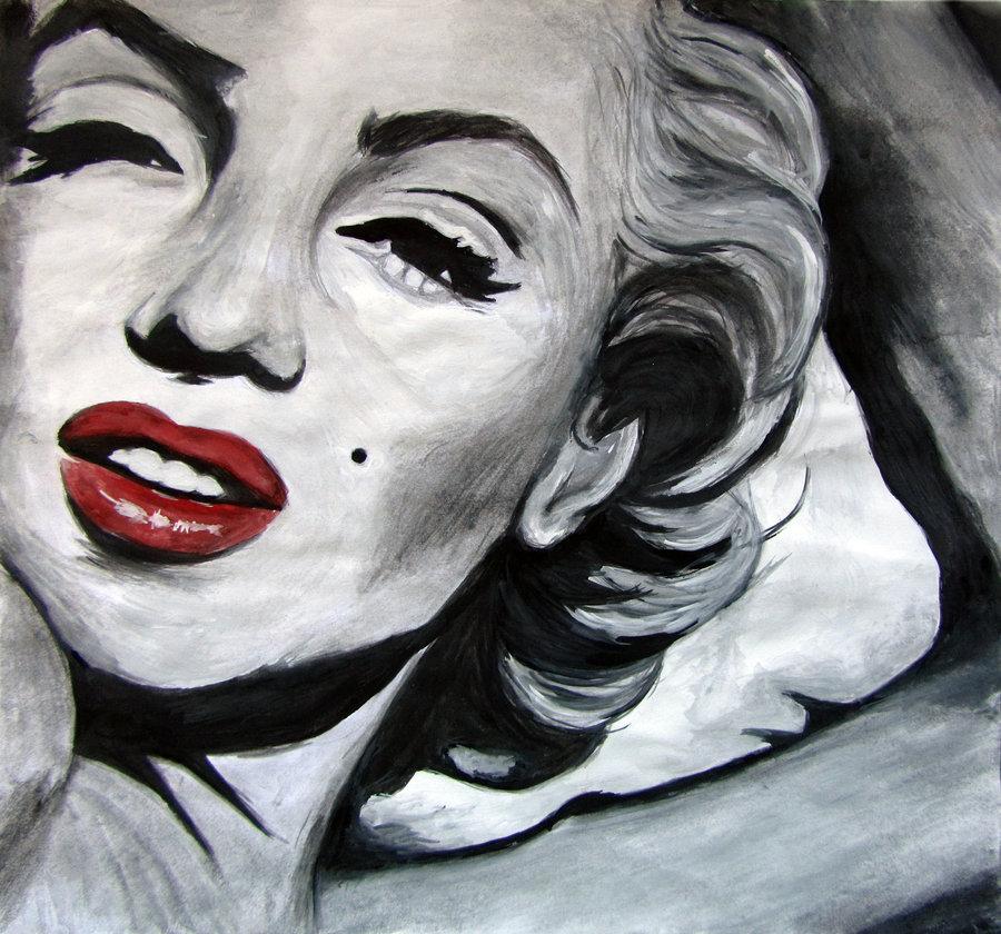 marilyn monroe art black and white marilyn 01 160713