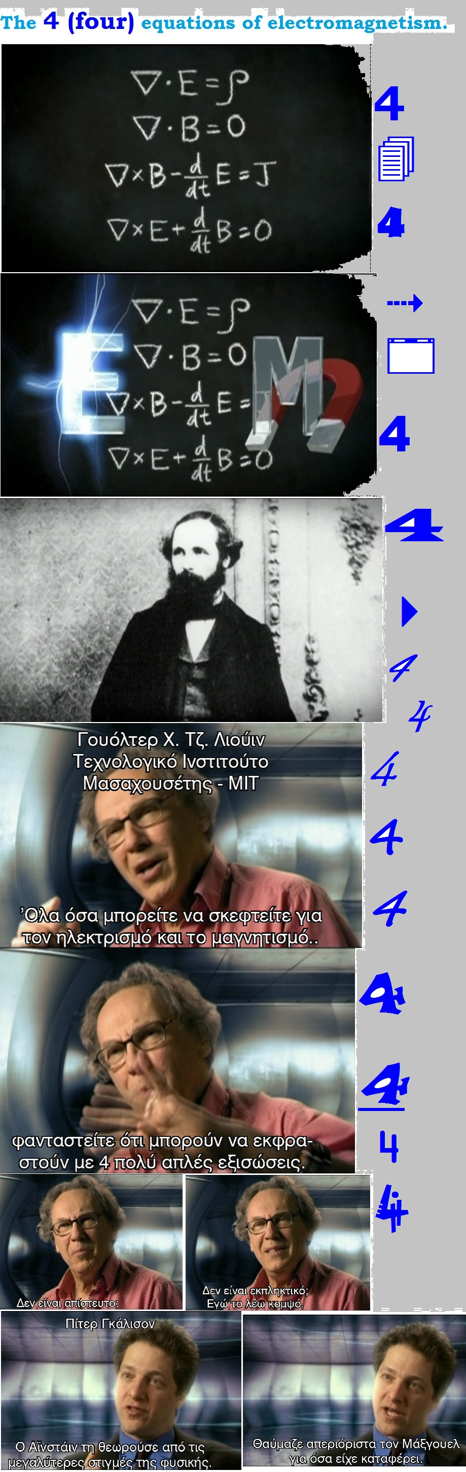 The four equations of electromagnetism 01 010913