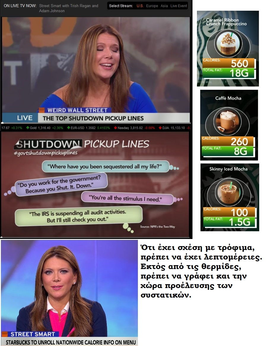 BLOOMBERG SHUTDOWN PICKUP LINES calories 01 021013
