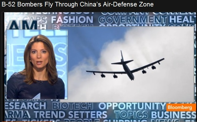 BLOOMBERG CHINA'S AIR DEFENCE ZONE - B-52 01 291113