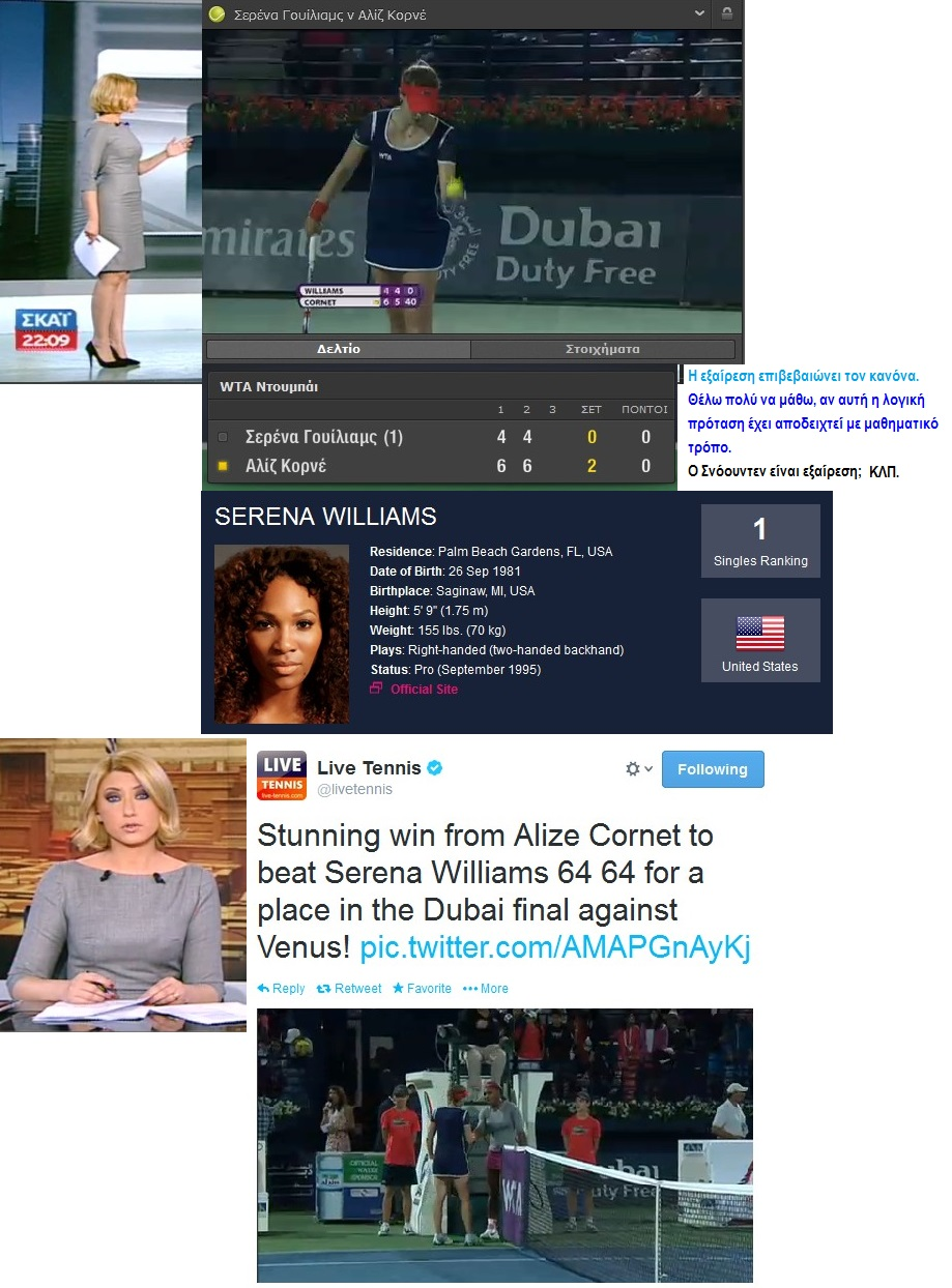 TENNIS ATP DUBAI SERENA WILLIAMS NO1 VS ALIZE CORNET NO26 WIN CIA 01 210214