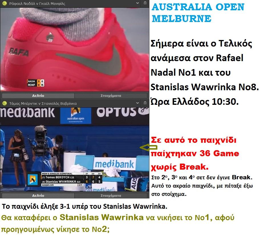 TENNIS AUSTRALIA OPEN MELBURNE RAFAEL NADAL 01 260114
