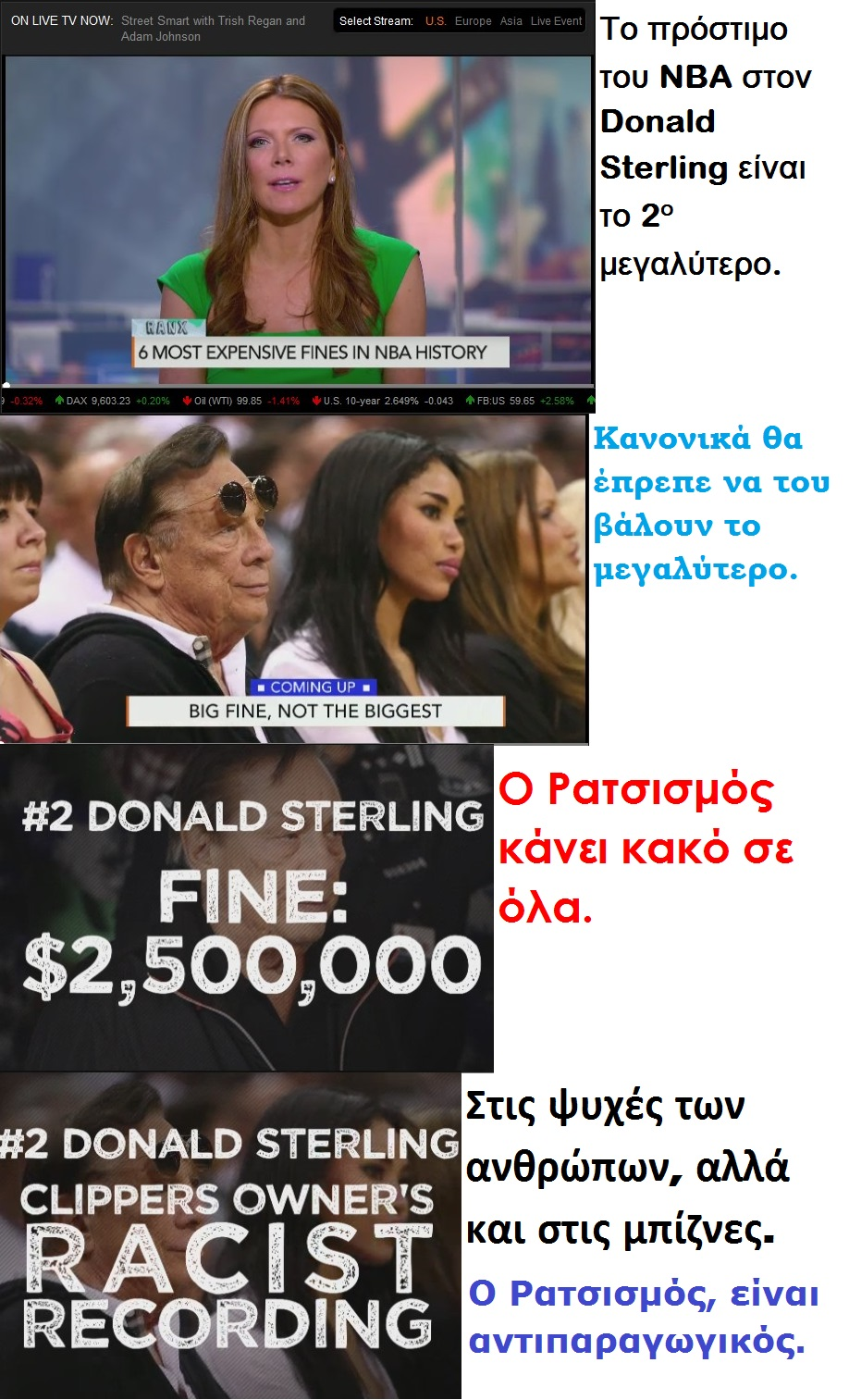 BLOOMBERG NBA DONALD STERLING FINE  01 020514