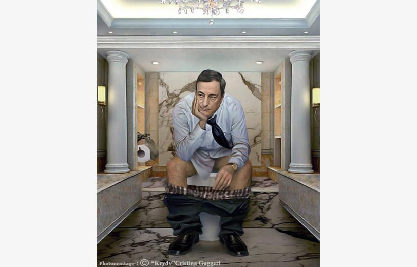 ART CRISTINA GUGGERI MARIO DRAGHI world-leaders-pooping-the-daily-duty 01 140115