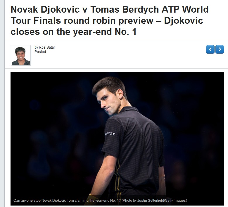 TENNIS NOVAK DJOKOVIC THE YEAR END NO1 01 191114