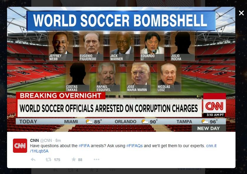 FOOTBAL FIFA SEPP BLATTER JEFREY WEBB CHUCK BLAZER 05 270515
