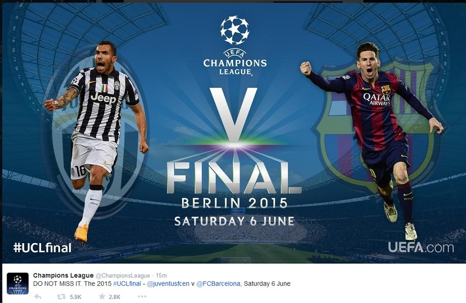 FOOTBALL CHAMPIONS LEAGUE FINAL BERLIN JUVENTUS VS BARCELONA 01 130515