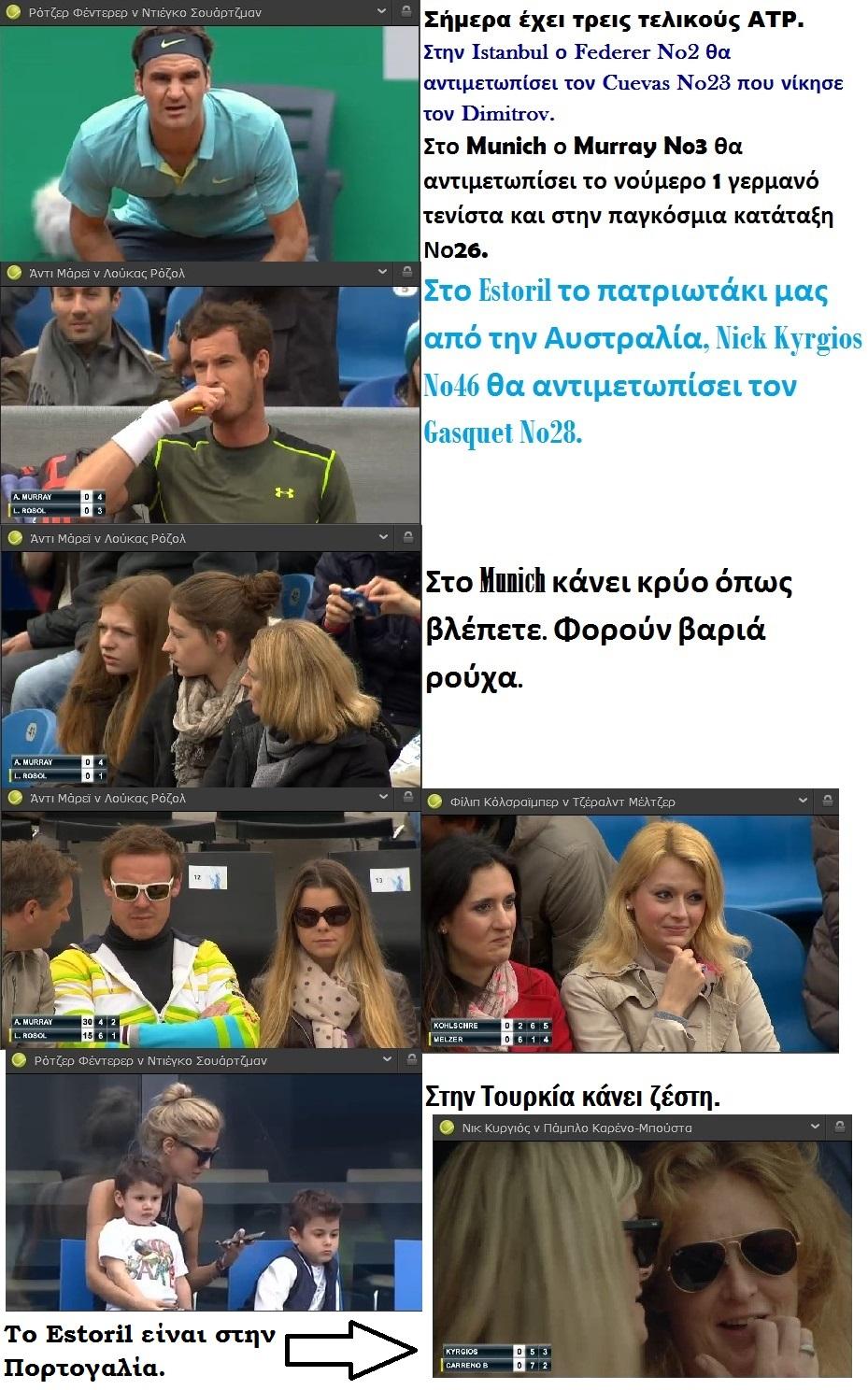 TENNIS ATP FEDERER MURRAY KYRGIOS 01 030515