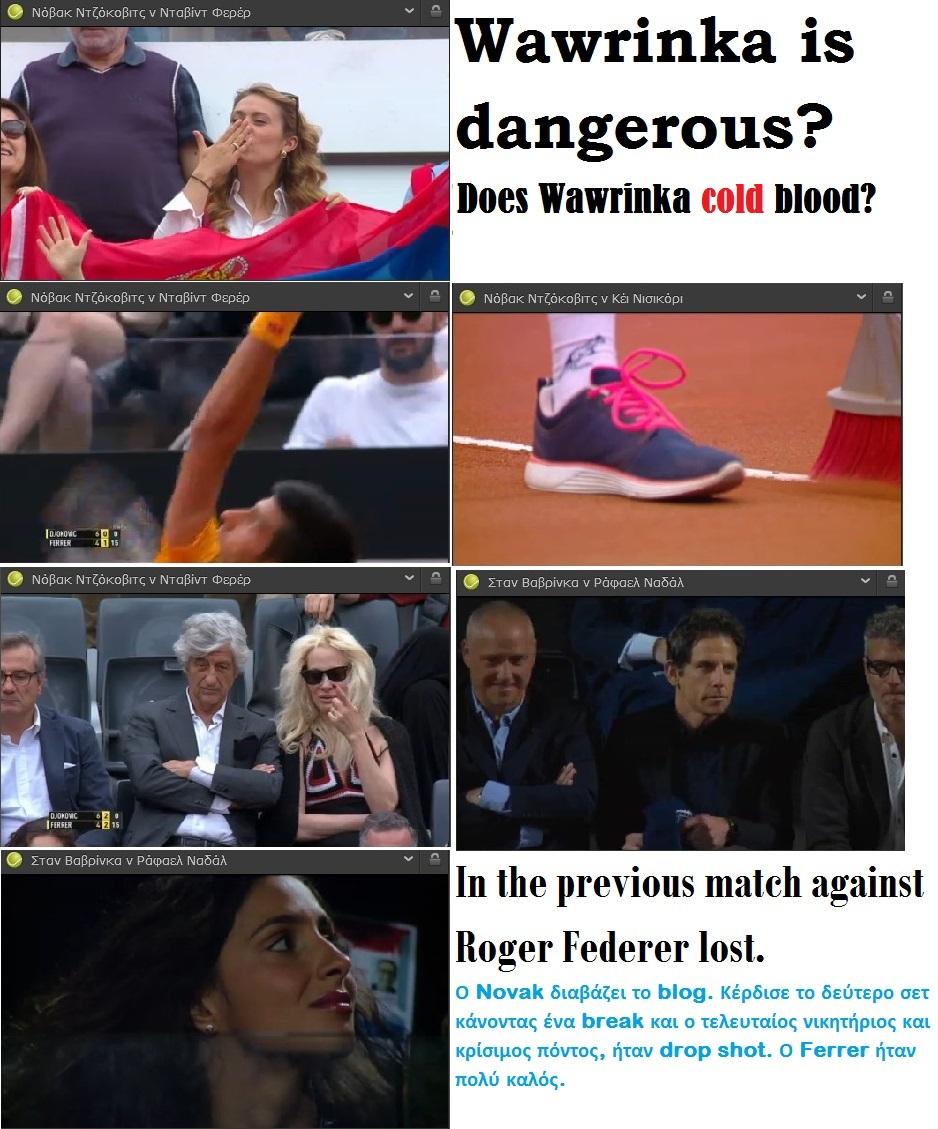 TENNIS ATP ROME DJOKOVIC WIN VS FERRER  WAWRINKA FEDERER 01 160515
