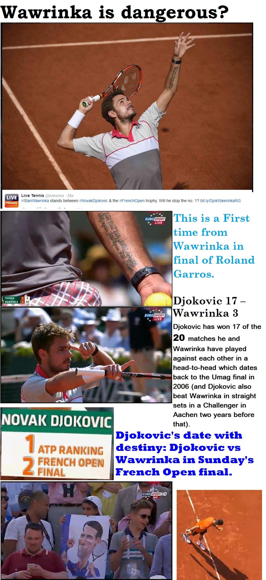 TENNIS GRAND SLAM DJOKOVIC VS WAWRINKA FINAL 01 070615