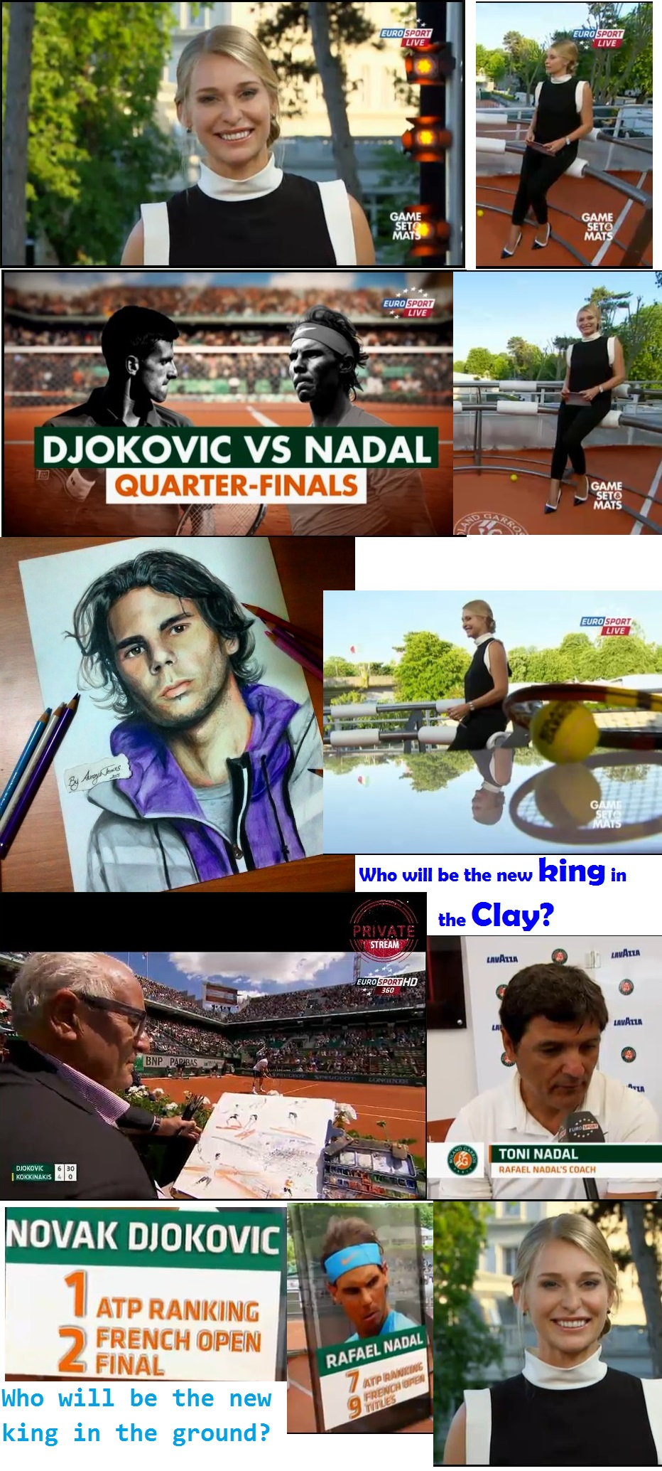 TENNIS GRAND SLAM ROLAND GARROS DJOKOVIC VS NADAL 01 030615