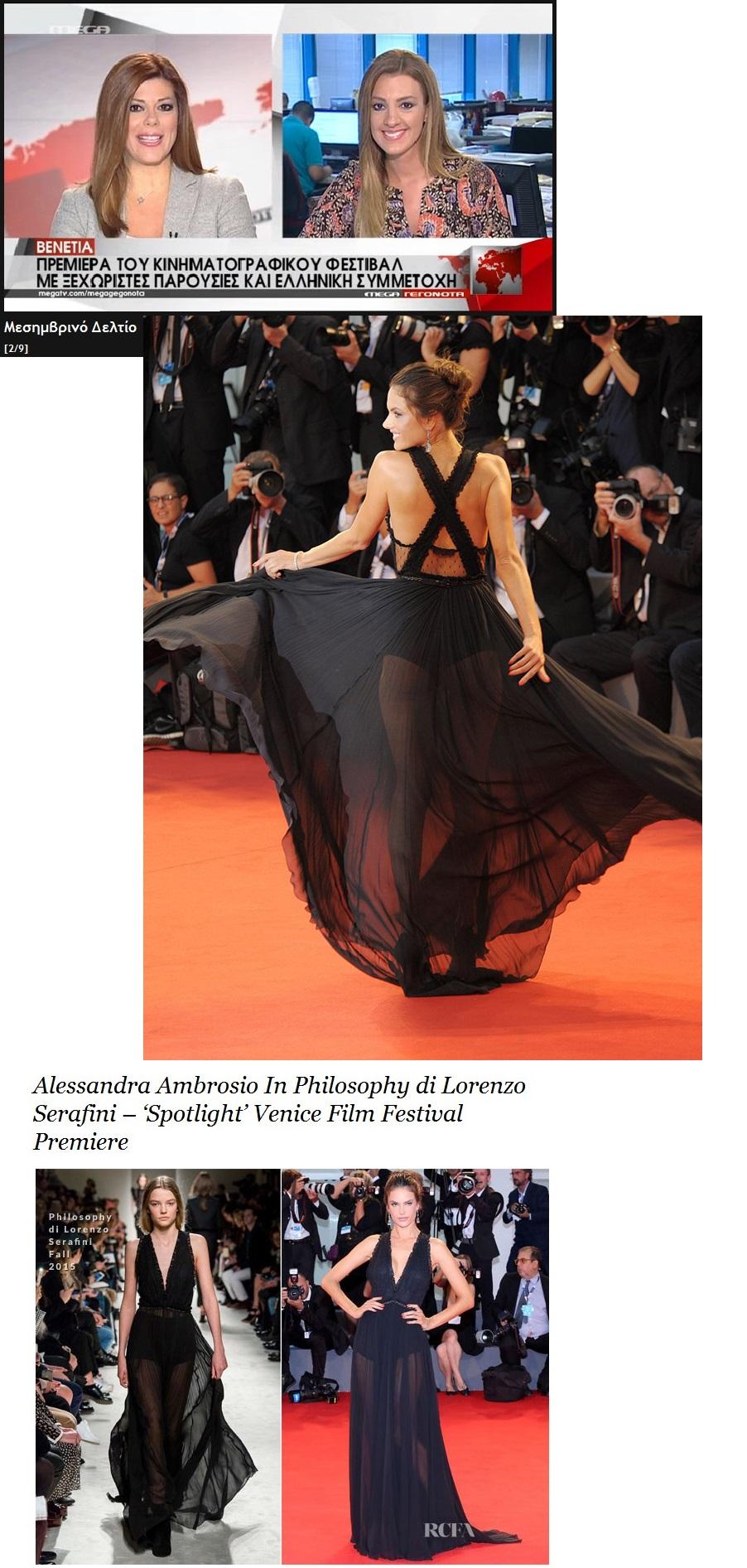 ITALY VENICE FILM FASTIVAL ALESSANDRA AMBROSIO 01 060915