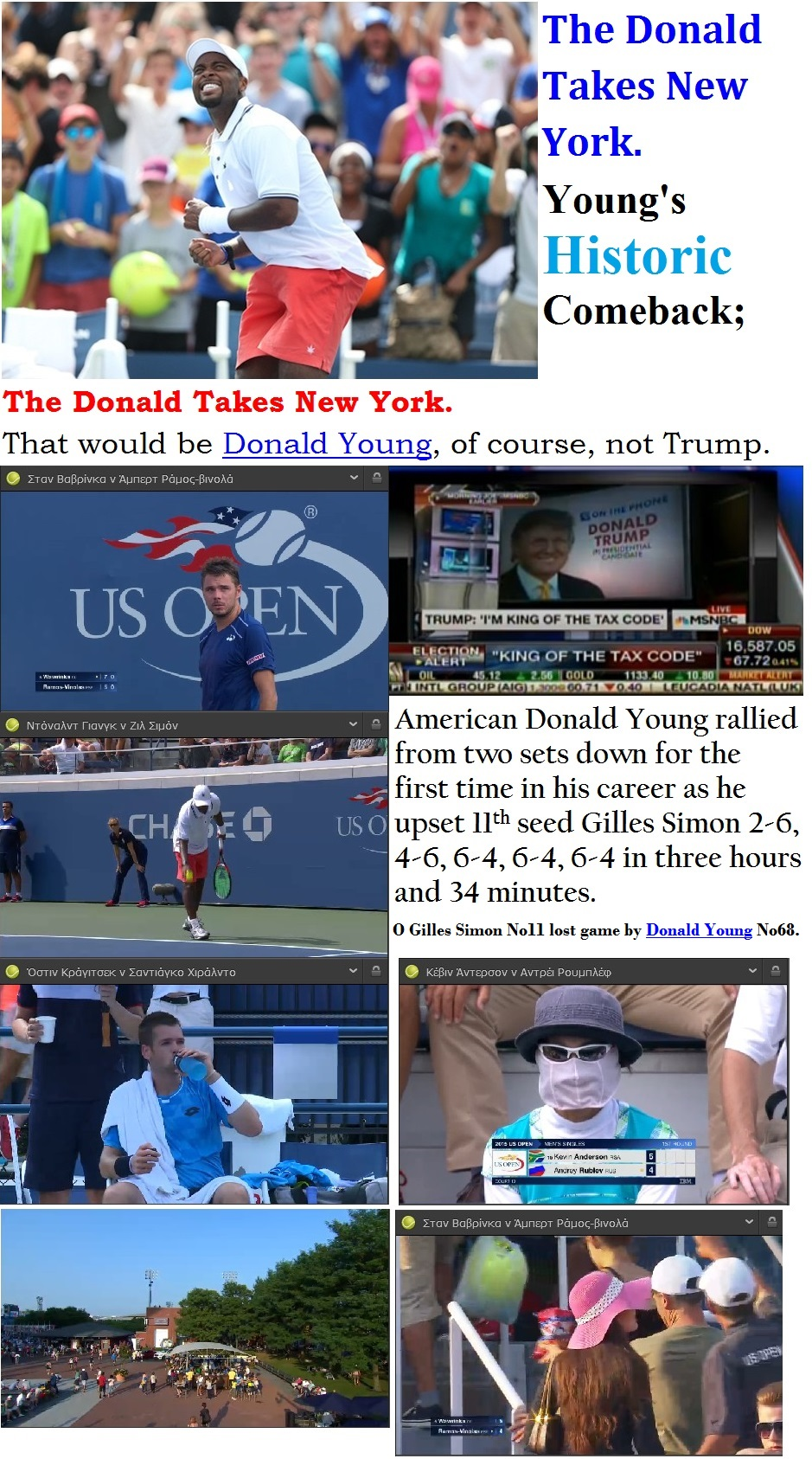 TENNIS USA GRAND SLAM OPEN US SECOND DAY DONALD YOUNG 01 020915