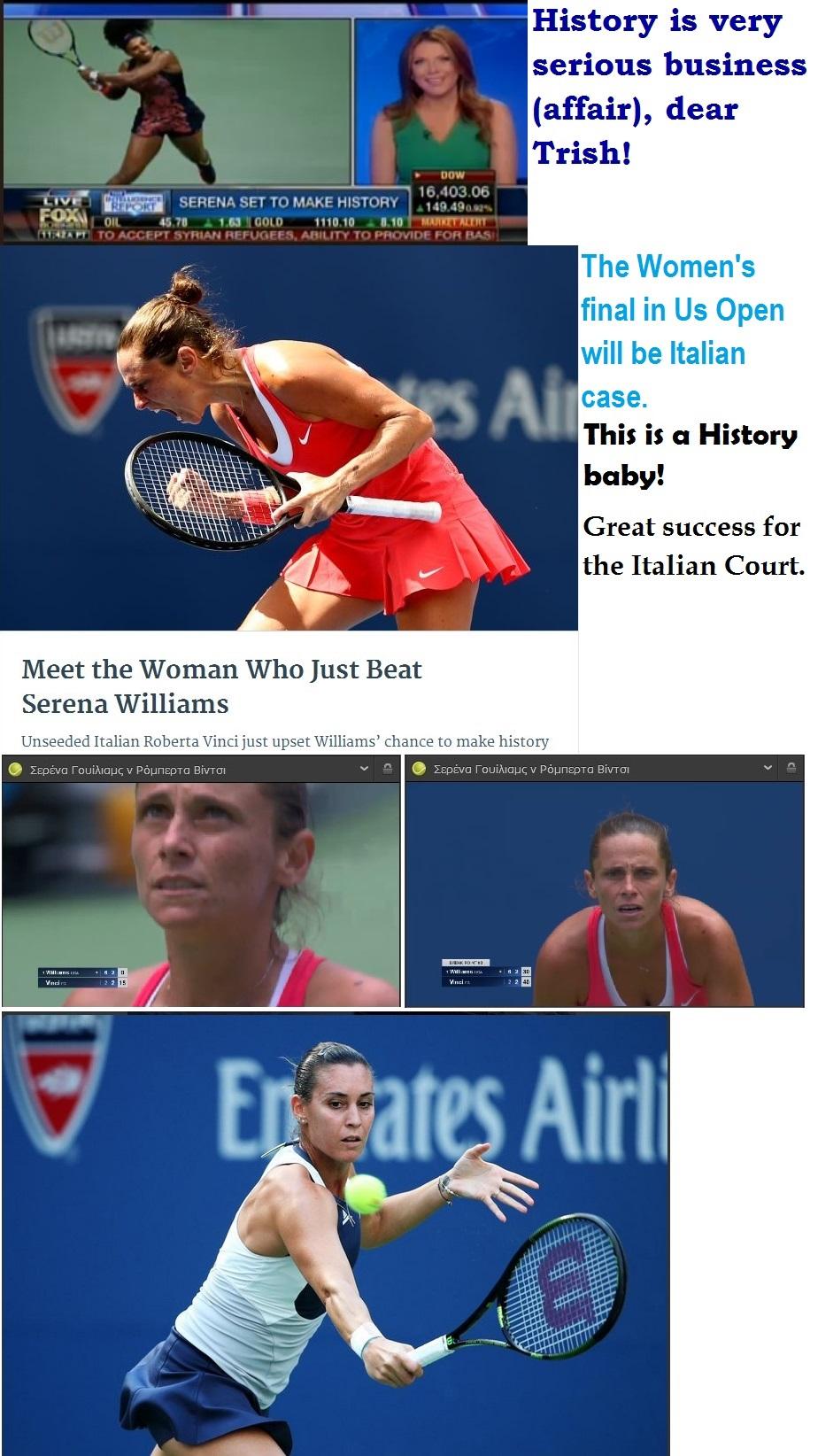TENNIS USA GRAND SLAM OPEN US WOMAN FINAL PENNETTA VS VINCI 01 120915