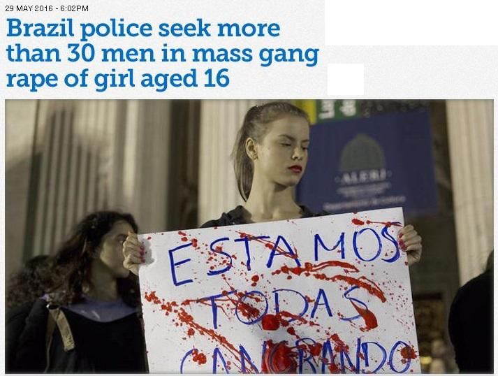 BRAZIL CRIME mass RAPE 18 290516
