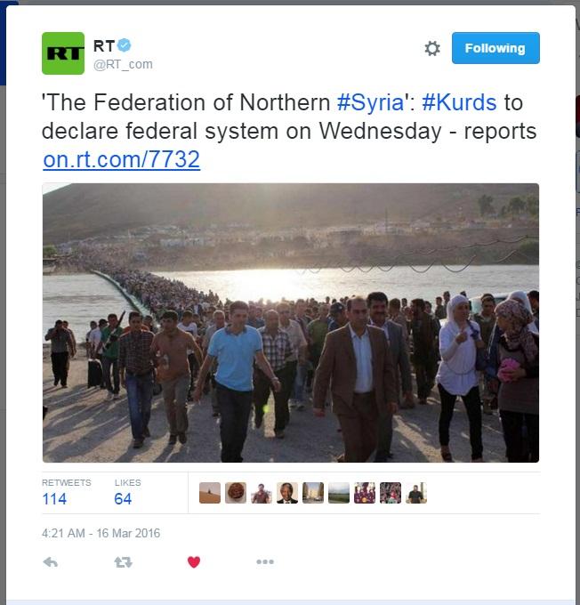SYRIA KURDS DECLARE FEDERAL 01 160316