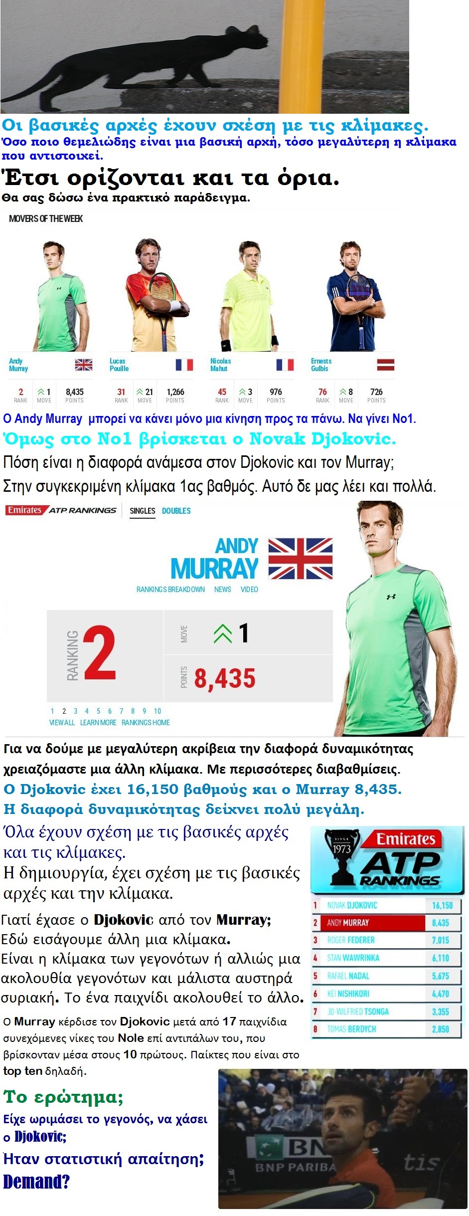 TENNIS ATP DJOKOVIC VS MURRAY KLIMAKES 01 180516