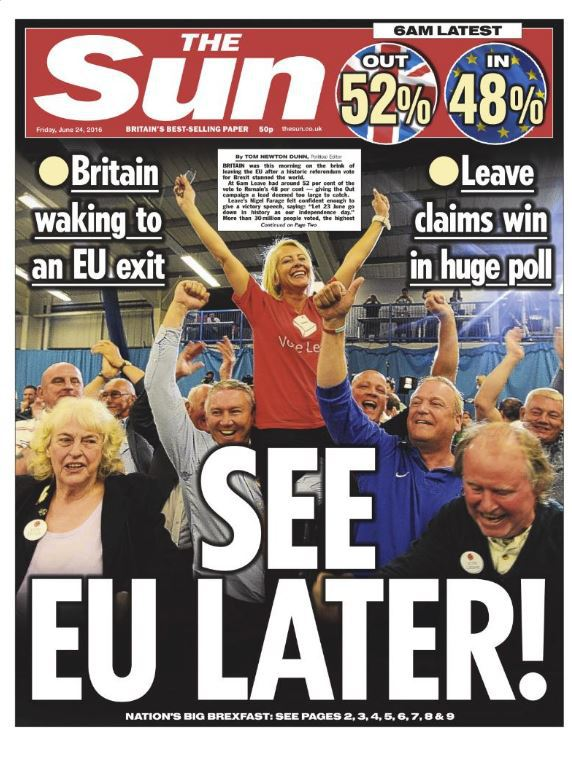 BRITAIN REFERENDUM BREXIT THE SUN 01 240616