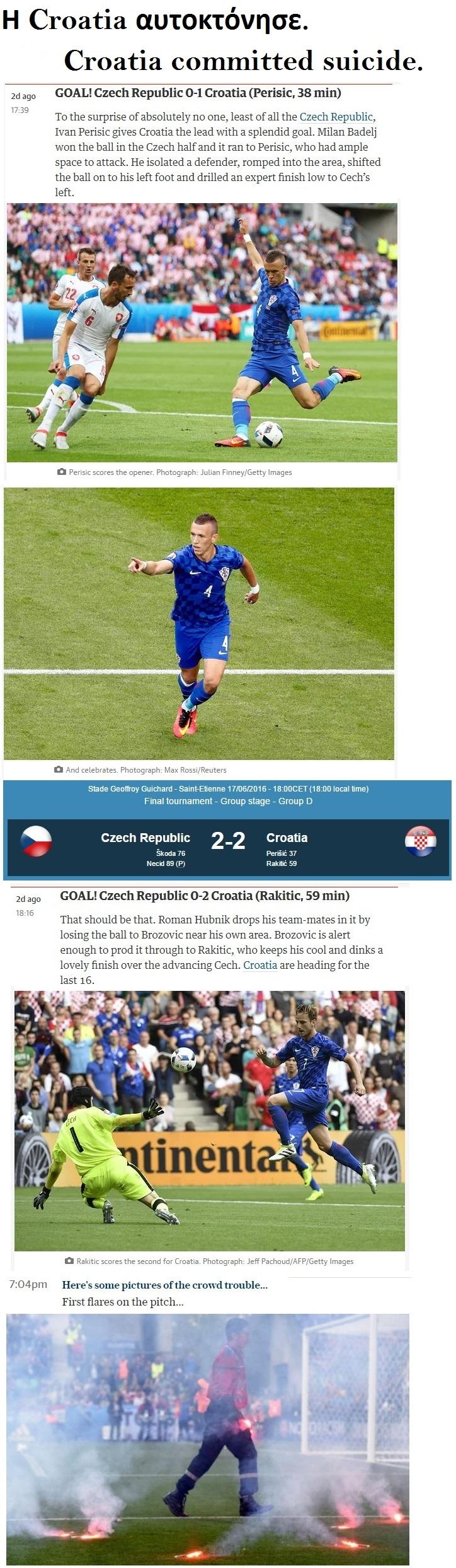 FOOTBALL EURO2016 CHECH REPUBLIC VS CROATIA DRAW 01 200616