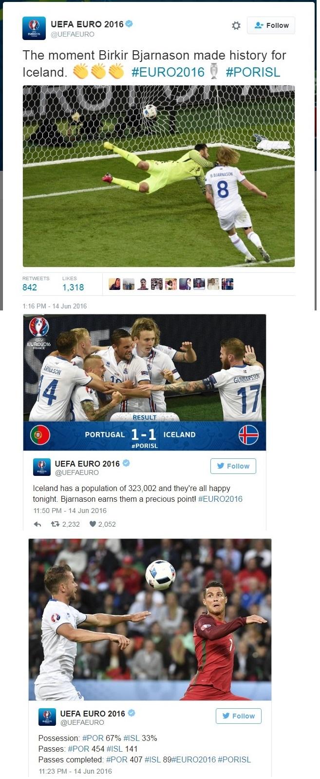 FOOTBALL EURO2016 PORTUGAL VS OCELAND BIRKIR BJARNASON 02 150616