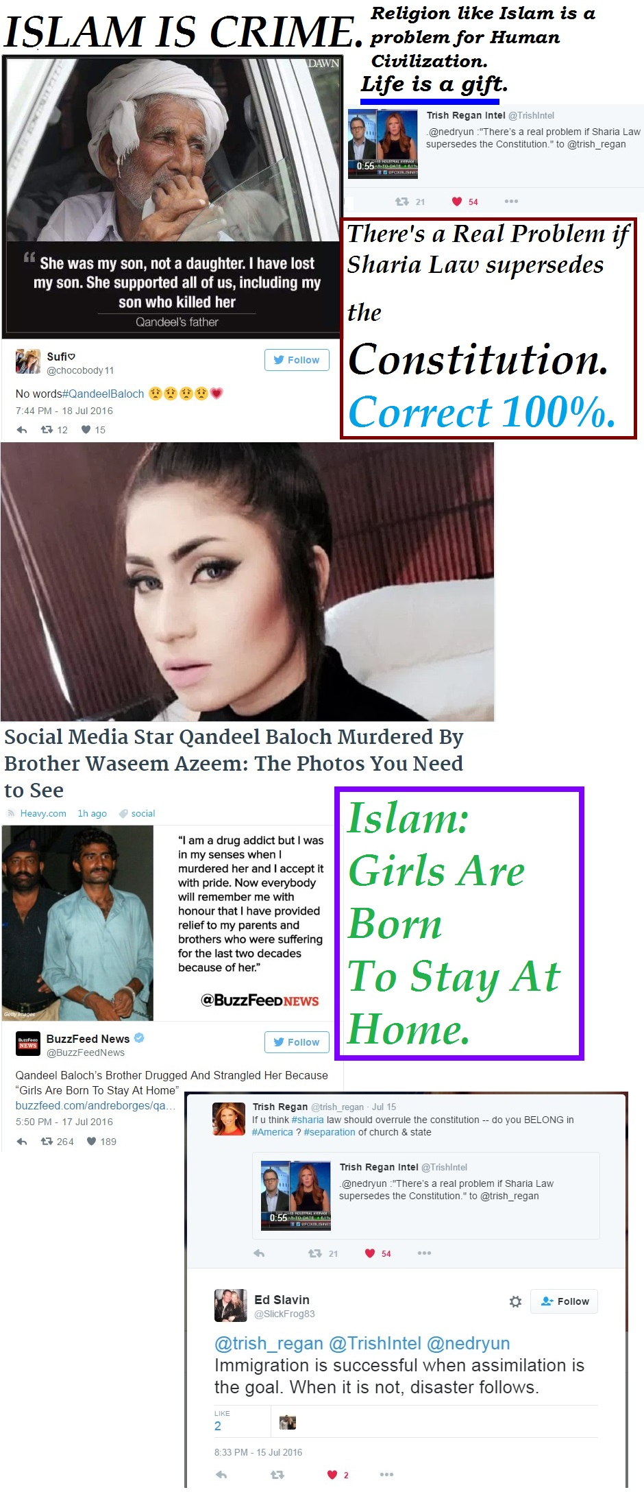 PAKISTAN CRIME QANDEEL BALOCH DEATH HONOUR KILING USA SHARIA LAW 01 200716