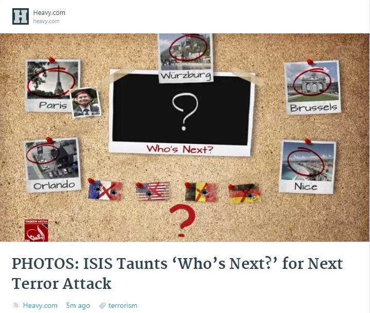 USA FRANCE GERMANY TERROR ISIS WHO NEXT 01 220716