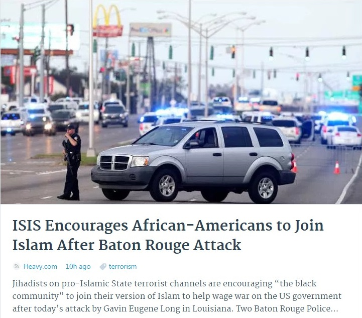USA SHOOTING BATON ROUGE COPS BLACK LIFE METTER ISIS AFRICAN AMERICANS 01 180716